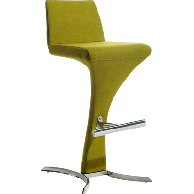 Conaway 30 Bar Stool Upholstery: Green