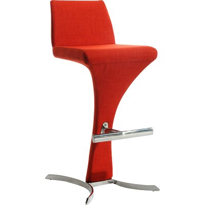 Jase 30 inch Bar Stool Upholstery: Red