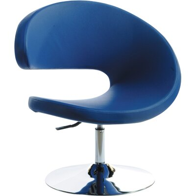 Belafonte Barrel Chair Color: Blue