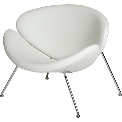 Carter Lounge Chair Upholstery: White