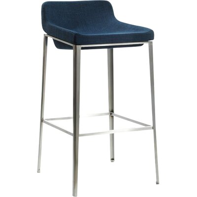 Frankston 30 Bar Stool Upholstery: Blue