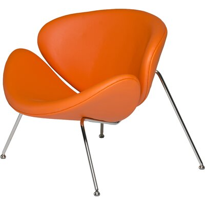 Carter Lounge Chair Color: Orange