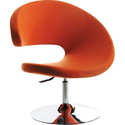 Belafonte Swivel Barrel Chair Upholstery: Orange
