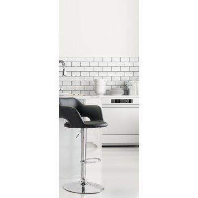 Springdale Adjustable Height Bar Stool Upholstery: Black