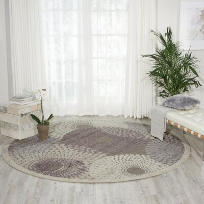 Asa Grey Area Rug Rug Size: Round 79