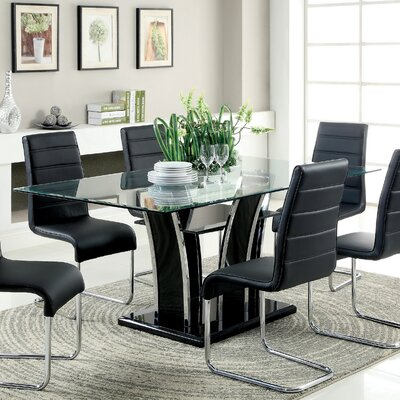 Anthea Dining Table Finish: Black