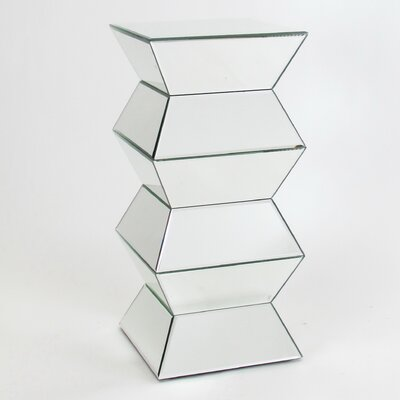 Carla Beveled Mirror End Table