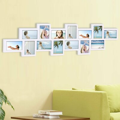 Arti 14 Opening Collage Picture Frame Color: White LDER2219 41927763