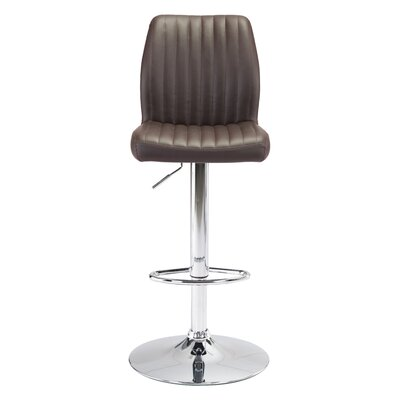 Joannie Adjustable Height Bar Stool Upholstery: Espresso