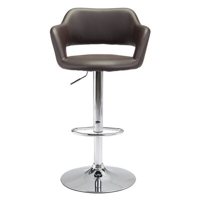 Springdale Swivel Bar Stool with Cushion Upholstery: Espresso