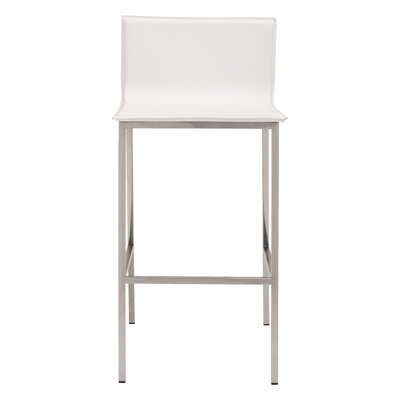 Kirk 39 Bar Stool Upholstery: White