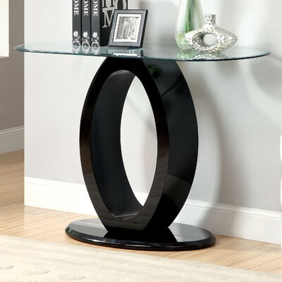 Louison Console Table Color: Black