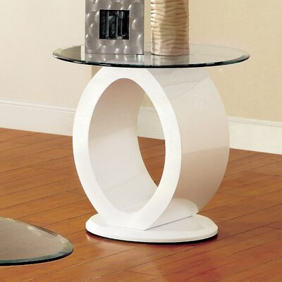 Louison End Table Finish: White