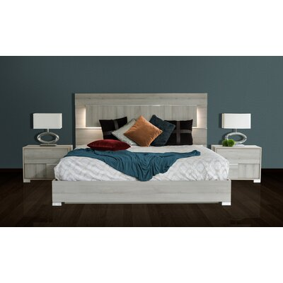 Camron Solid Wood Panel Bed Size: Eastern King