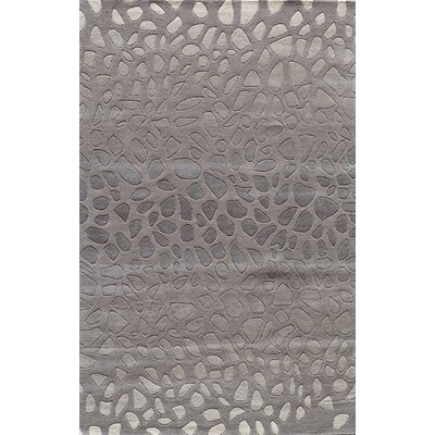 Alexina Hand-Tufted Silver Area Rug Rug Size: Rectangle 36 x 56