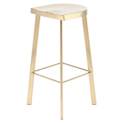 Linder 30.75 Bar Stool Finish: Gold