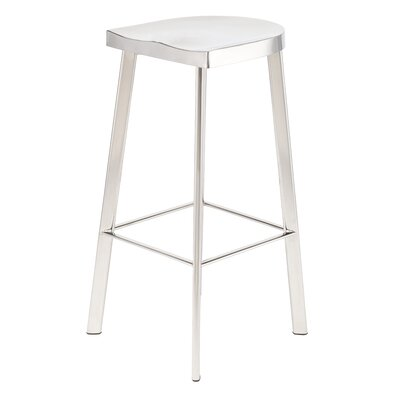 Linder 30.75 Bar Stool Finish: Polished