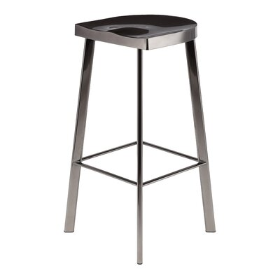 Linder 30.75 Bar Stool Finish: Black