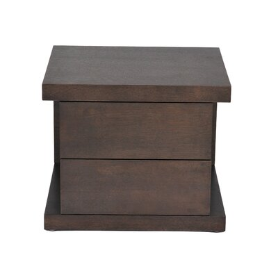 Oden 2 Drawer Nightstand Color: Cacao