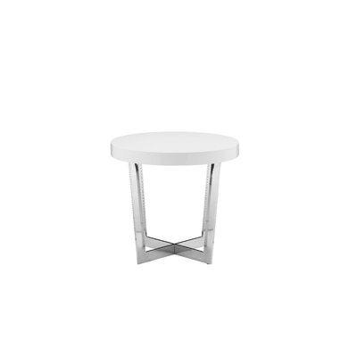 Bank Street End Table Finish: Alabaster