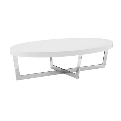 Bank Street Coffee Table Top Color: White High Gloss Lacquer