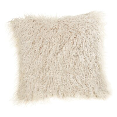 Morefield Faux Sheepskin Throw Pillow