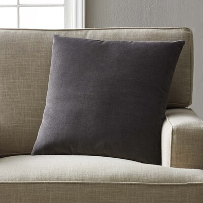 Joseline Velvet Pillow Cover Size: 20 H x 20 W x 5 D, Color: Coal