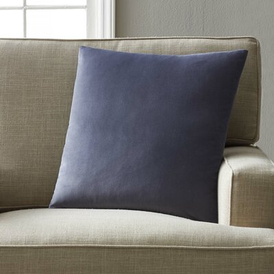 Joseline Velvet Pillow Cover Size: 18 H x 18 W x 5 D, Color: Steel