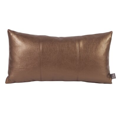 Smetana Faux Leather Lumbar Pillow Color: Shimmer Bronze