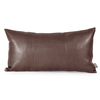 Smetana Faux Leather Lumbar Pillow Color: Avanti Pecan