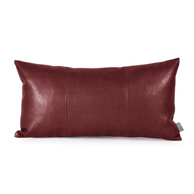 Smetana Faux Leather Lumbar Pillow Color: Avanti Apple