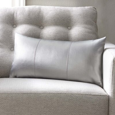 Smetana Faux Leather Lumbar Pillow Color: Shimmer Mercury