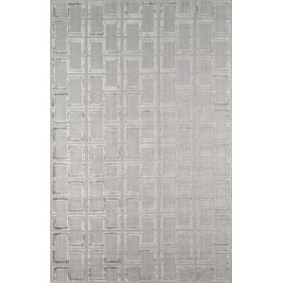 Roy Hand-Knotted Gray Area Rug Rug Size: 5 x 8