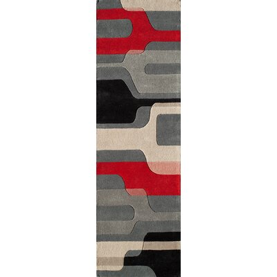 Miller Hand-Tufted Gray Area Rug Rug Size: Runner 23 x 8
