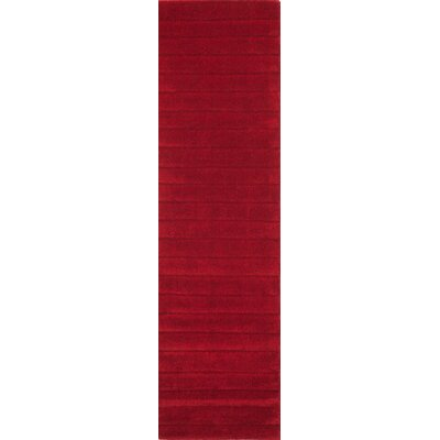 Walker Hand-Tufted Red Area Rug Rug Size: Runner 23 x 8