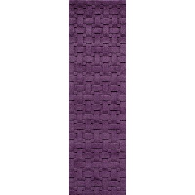 Walker Hand-Tufted Plum Area Rug Rug Size: Runner 23 x 8