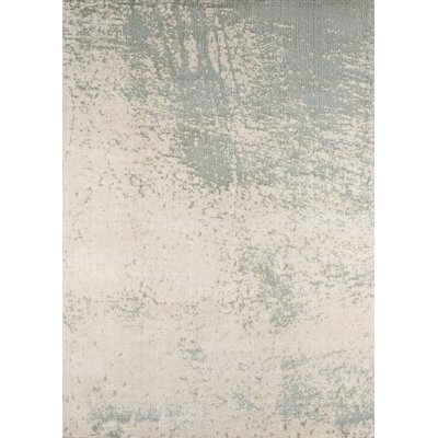 Stanley Ivory/Gray Area Rug Rug Size: Rectangle 93 x 126