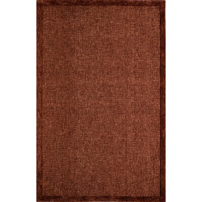 McCollum Hand-Tufted Rust Area Rug Rug Size: Rectangle 36 x 56