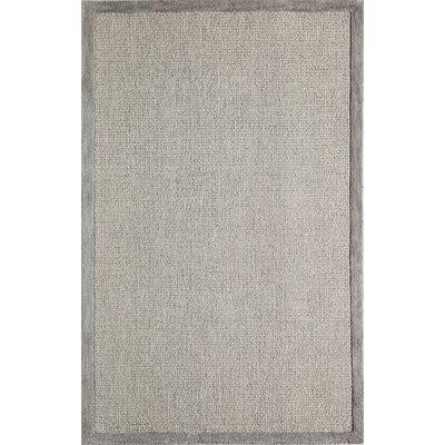 McCollum Hand-Tufted Gray Area Rug Rug Size: Rectangle 5 x 8