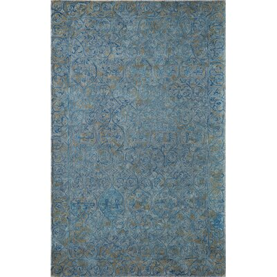 McCollum Hand-Tufted Blue/Gray Area Rug Rug Size: Rectangle 5 x 8