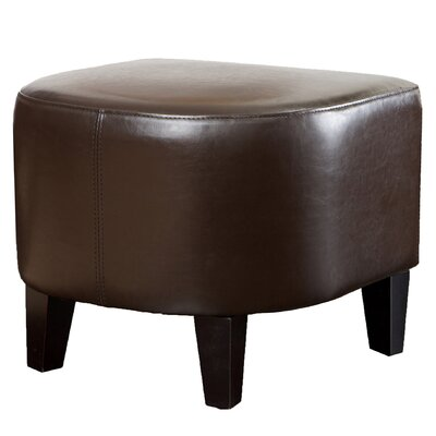 Ellerbee Leather Ottoman Upholstery: Brown