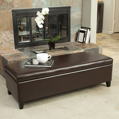 Boswell Upholstered Storage Bench Upholstery: Chocolate Brown