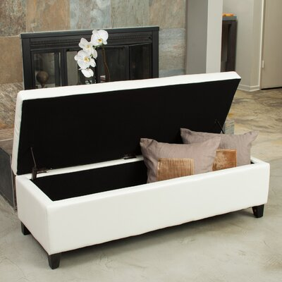 Boswell Upholstered Storage Bench Upholstery: Ivory