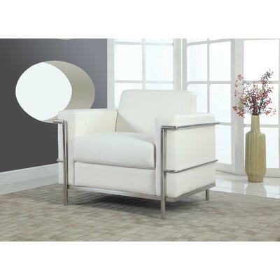 Selene Armchair Upholstery: White