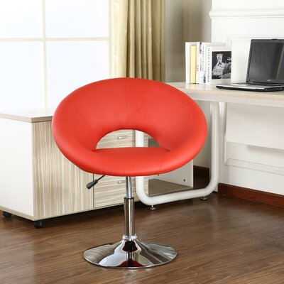 Mazzeo Papasan Dining Chair Color: Red