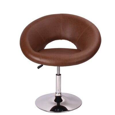 Mazzeo Papasan Dining Chair Color: Brown