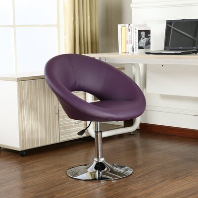 Mazzeo Papasan Dining Chair Color: Purple