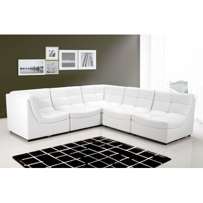 Laquecia Modular Sectional Upholstery: White