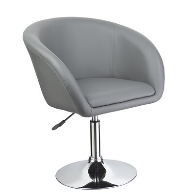 Mcphee Adjustable Swivel Barrel Chair Upholstery: Gray