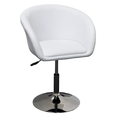 Mcphee Adjustable Swivel Barrel Chair Upholstery: White